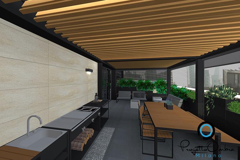 Progetto di un terrazzo attico a milano - Progettazione terrazzi milano ...