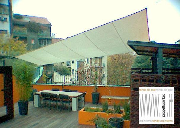 La nuova architettura in terrazzo for Tenda vela ikea