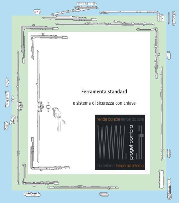 FERRAMENTA STANDART CON CHIAVI   CHIAMACI AL 0258315644 CHIEDI IL TUO PREVENTIVO O INVIACI LE MISURE