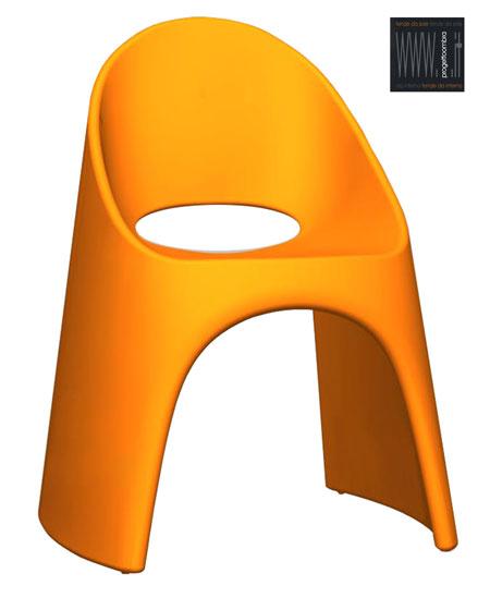 AMELIè sedute interni ed esterni N.1 LACCATA ARANCIO  DA CM 50X67 h 87  €310,00 per informazioni telefonateci 0258315644