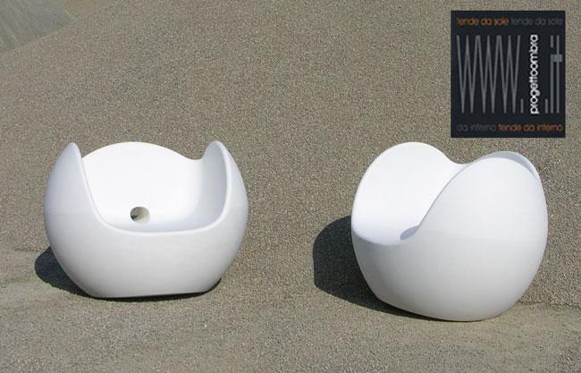 blos di due sedute bianche