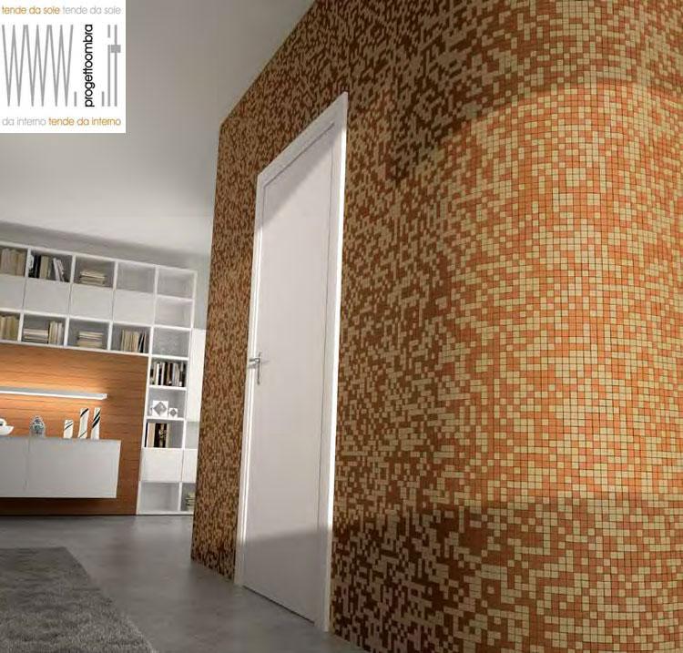 Mosaici per interni boiserie in ceramica per bagno for Pavimenti mosaici per interni