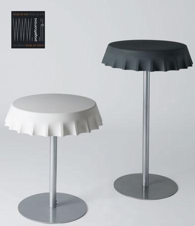 FIZZZ 2 pezzi  70 h 70 cm  70 h 110 cm  Colore Bianco e Nero  Peso: 28 kg/30 kg  Disponibile l'opzione luce compresa nel prezzo su richiesta del cliente.  Per informazioni chiamare 02-58315644