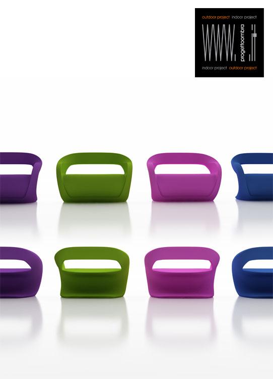 N.8 divani per esterni coloratie verniciati lucidi   telefonare a progetto ombra milano 0258315644