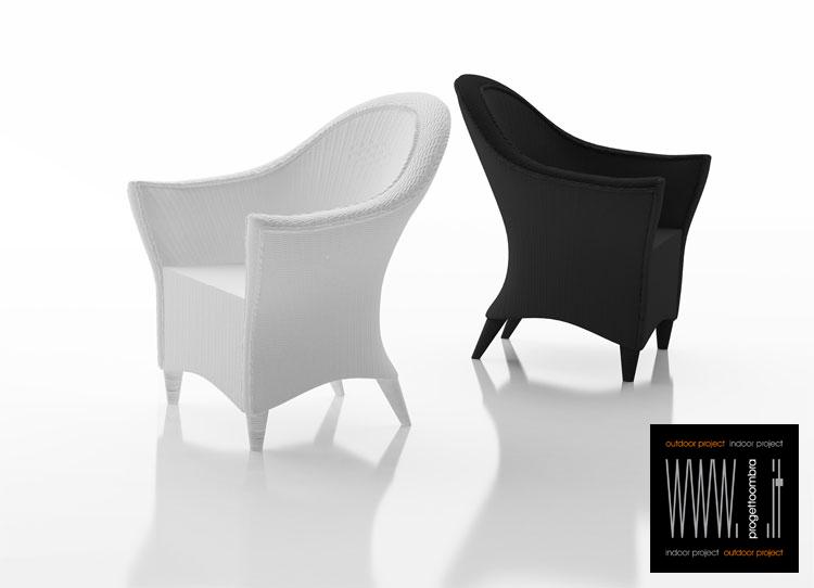 viva poltrone finto vimini di due colori una bianca e una nera , per esterni per informazione 0258315644