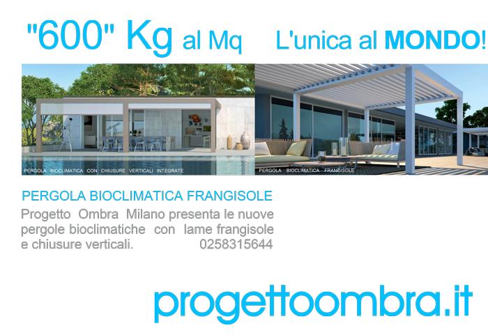 PERGOLE BIOCLIMATICHE FRANGISOLE 600KG AL MQ 0258315644