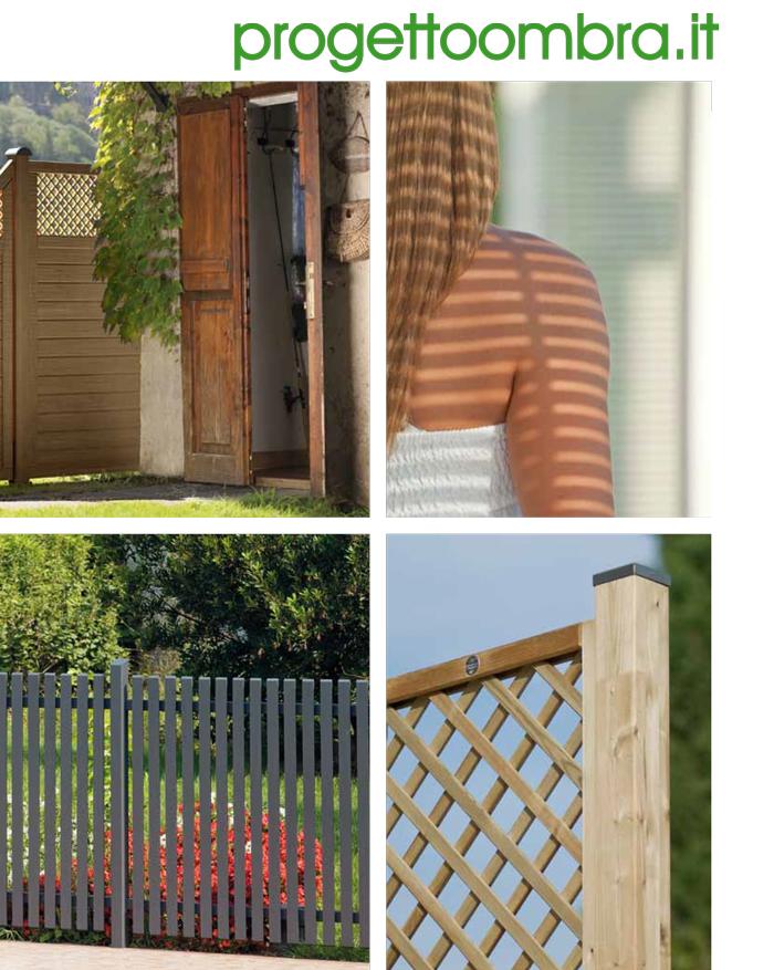 Grigliati in legno per recinzioni - Recinti per giardini ...