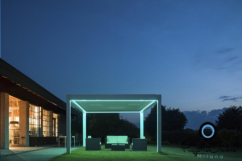 Unici i led studiati da pratic per illuminare bioclimatiche verande