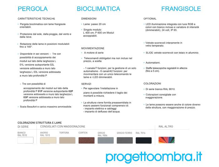 CARATTERISTICHE PERGOLA VISION FRANGISOLE 0258315644
