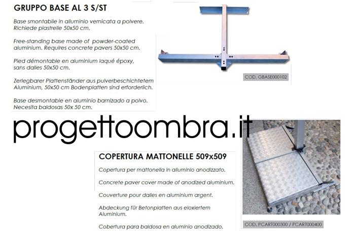 BASE IN ALLUMINIO E COPERTURA PER MATTONELLE 0258315644