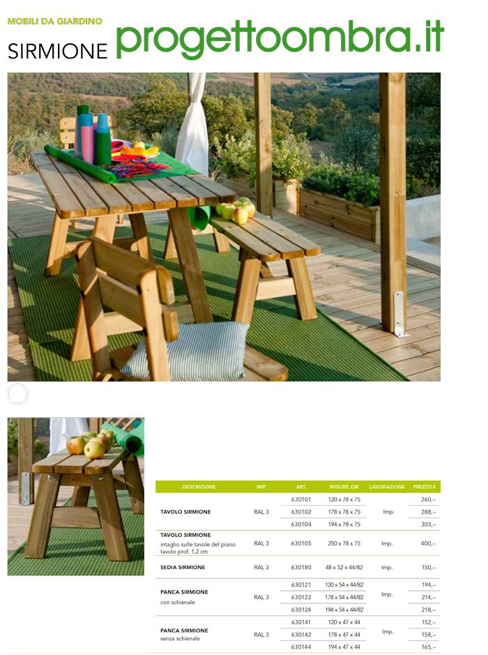 Mobili da giardino e arredamento per esterni for Mobili per giardino