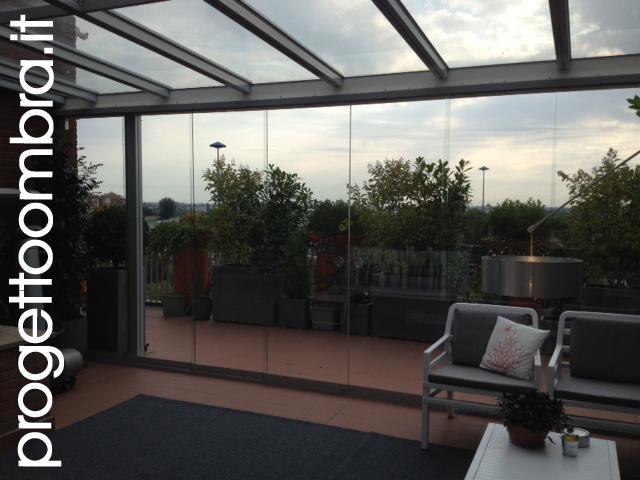 Serre bioclimatiche con tende elettriche - Serre per terrazzi ...