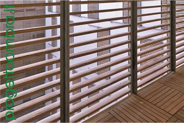Rivestimento In Legno Per Facciate : Frangisole e pareti in legnotec