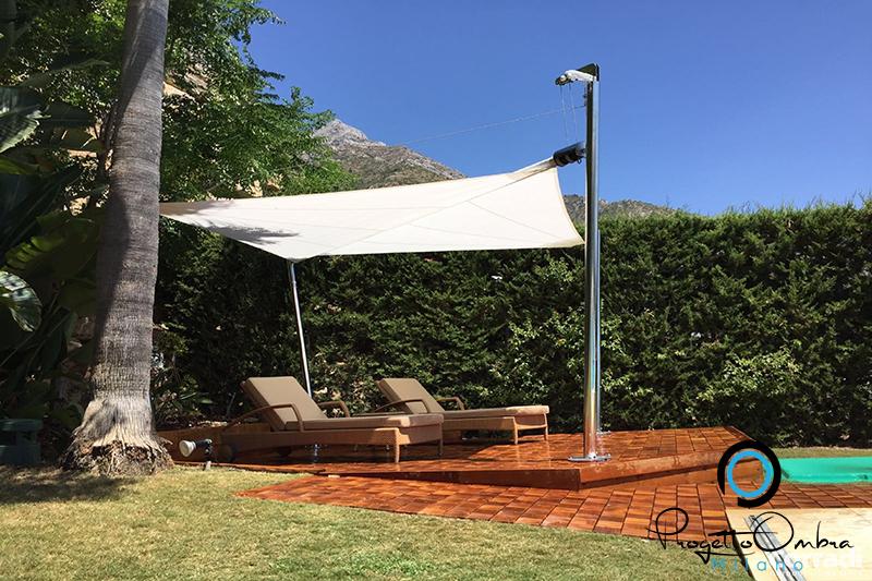 Vestire il giardino con l 39 ombra vela maestrale - Giardino in ombra ...