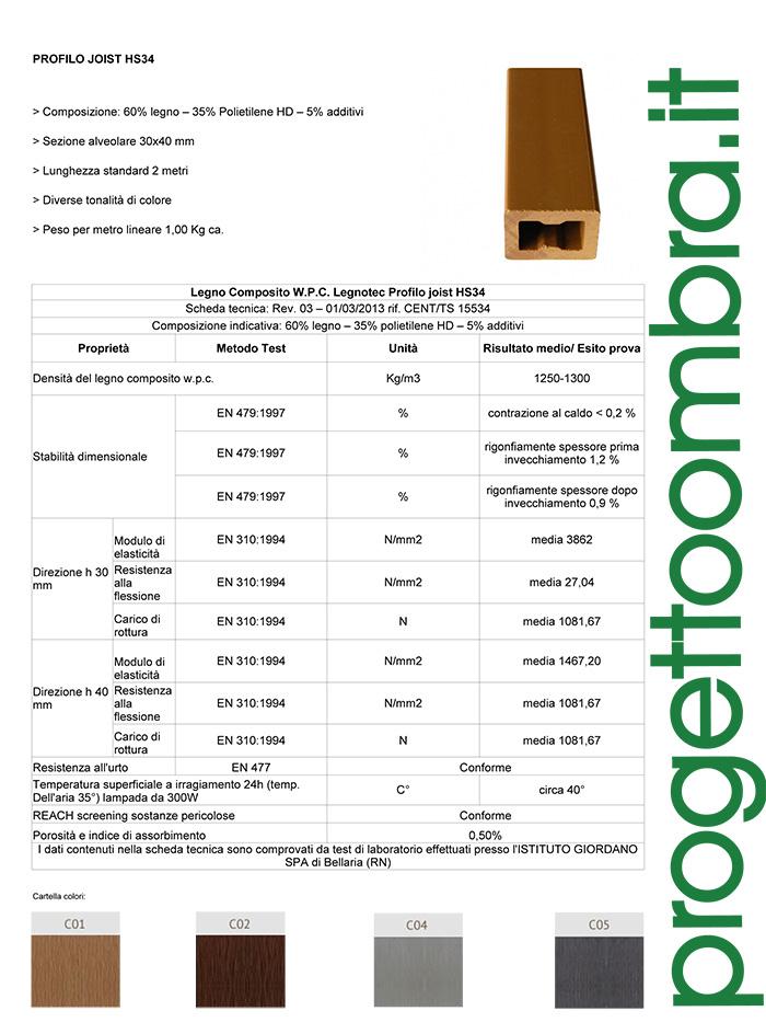 LEGNOTEC PROFILO JOIST HS34