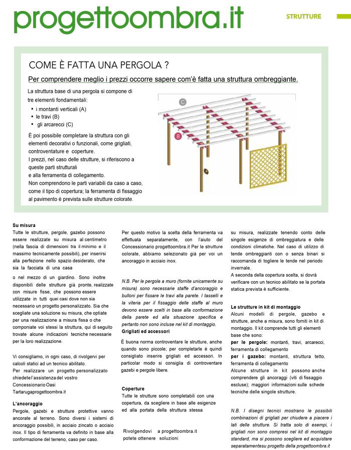 STRUTTURA PERGOLA MILANO 0258315644