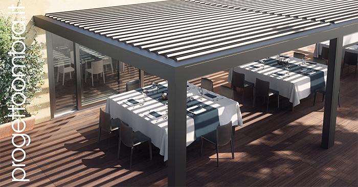 Emejing pergole da terrazzo contemporary design trends - Pergole da giardino ...