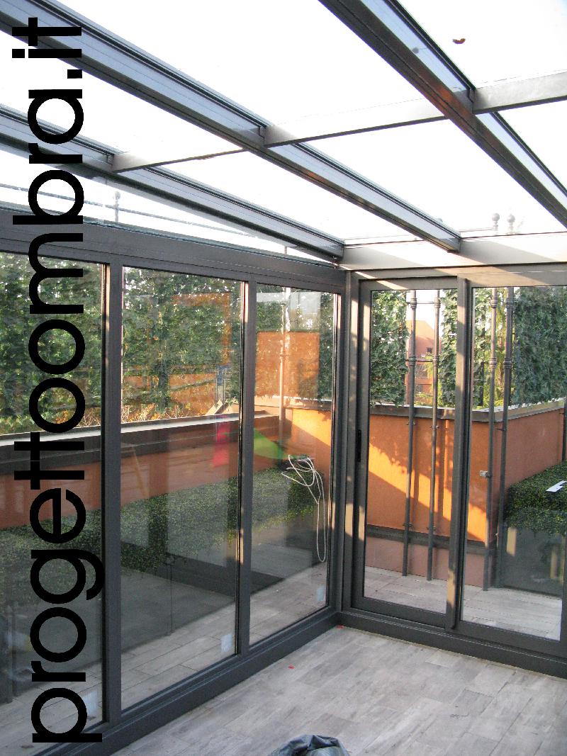 Illuminazione Per Veranda : Serre bioclimatiche con tende elettriche